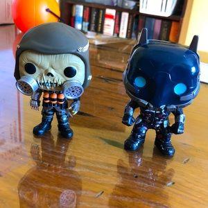 Arkham Funko Pops: Scarecrow and Arkham Knight